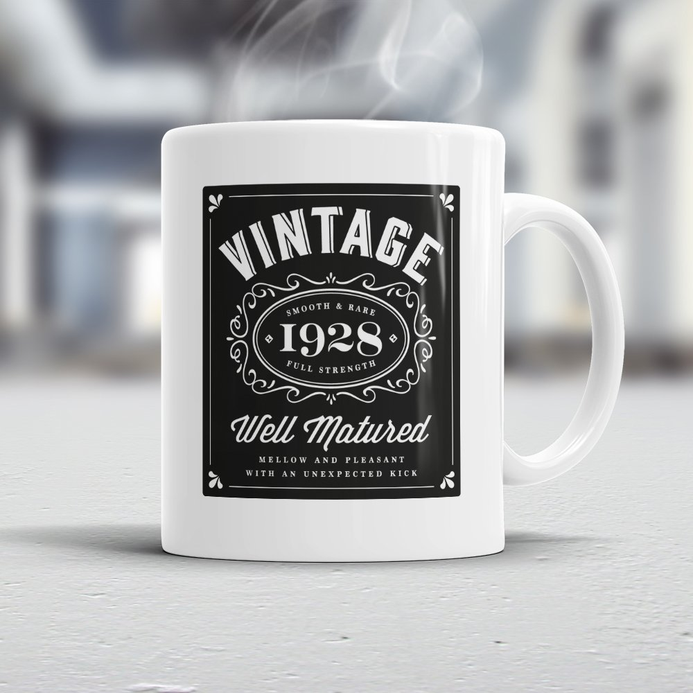 Amazon 90th Birthday Gift Gifts For Men Women 1928 Vintage Coffee Mug Handmade