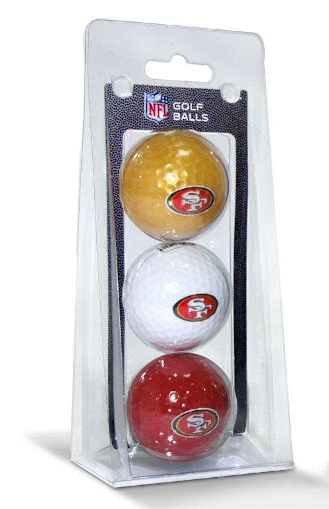 San Francisco 49ers 3パックのゴルフボール B077NMGXGQ