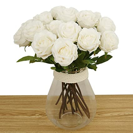 Amazon bringsine artificial flowers real touch flowers silk bringsine artificial flowers real touch flowers silk artificial rose flowers home decorations for bridal wedding mightylinksfo