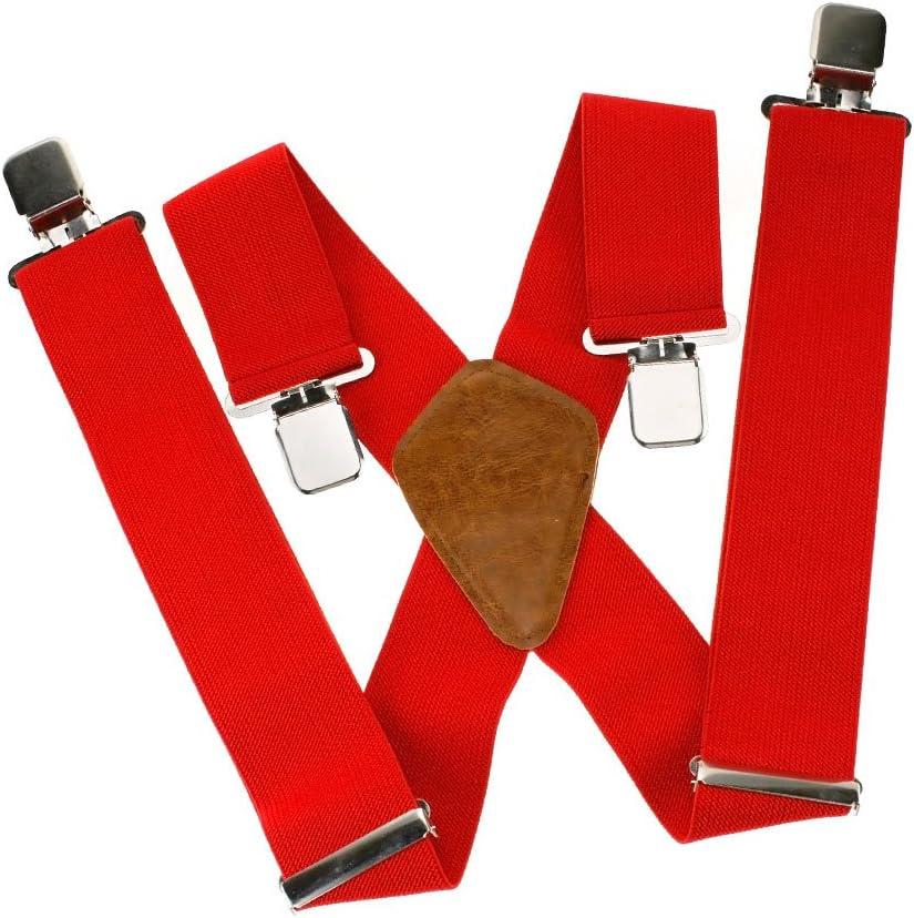 KANGDAI Bretelles Homme Larges 6 clips Brace Men Y Retour Suspensions ajustables /élastiques et durables Clips en m/étal fort