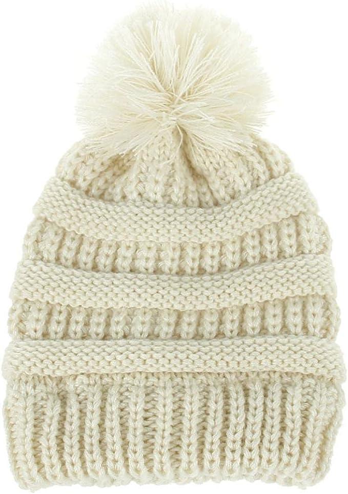Recién nacido linda moda mantener calientes sombreros de invierno Sombrero de dobladillo de lana de punto bufanda Gorros Bebé invierno cálido sombreros Zapatos de bebé ropa bebe by Xinantime (Beige): Amazon.es: Hogar
