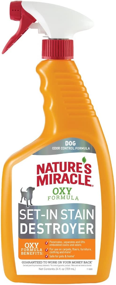 Nature's Miracle P-98172 Set-In Stain Destroyer Dog, Oxy Formula With Orange,24 oz