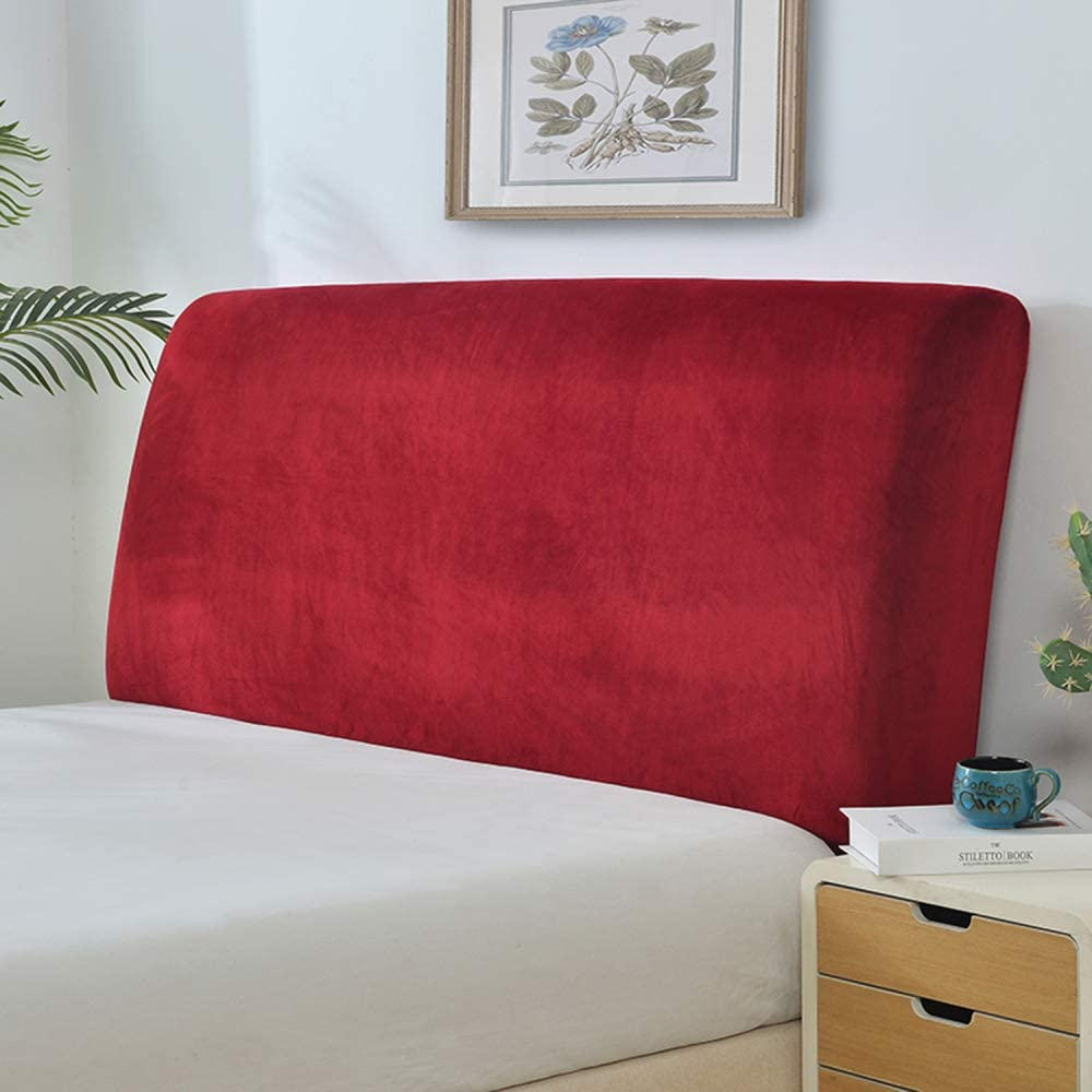 Reading Pillows European Headboard Slipcover Protector Bed Decoration Super King Size Bedside Cover Dust Cover Washable,Black-W120xH65cm
