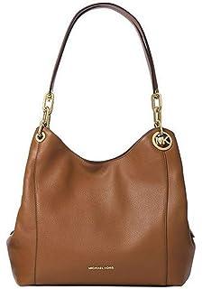 1e947501bc3227 Michael Kors Women's Fulton Large Leather Shoulder Bag, Black, OS ...