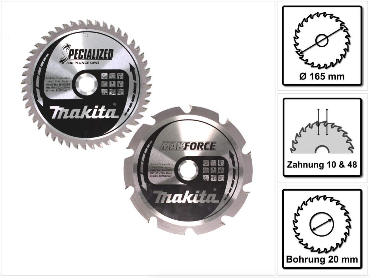 Makita b-49345 Circular hojas de sierra Pack de 2 b-9298 7 b-80159 ...