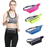 Running Belt Waist Pack, Water Resistant Runners Belt Fanny Pouch for Men Women Hands Free Workout - Adjustable Waist Bag for iPhone 6 / 7 6S / 7S Plus