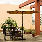 Ollieroo® Patio Umbrella Tilt Beige Aluminum 9FT Outdoor Market Umbrella With Crank 8 - Best Reviews Guide