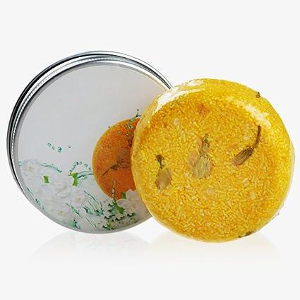 Champú en pastilla para el control de la grasa de FAVOLOOK, hecho a mano, anticaída y anticaspa, canela, para el cuidado del cabello