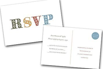 amazon com custom date colored bold print response cards 4x6 rsvp