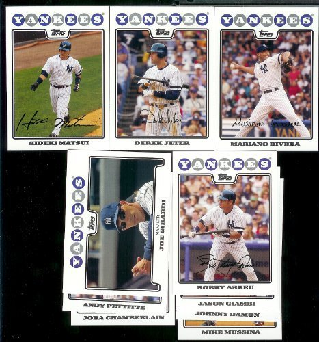 (New York Yankees Baseball Cards - 6 Years Of Topps Team Sets 2004,2005,2006,2007, 2008 & 2009 - Includes ALL regular issue Topps Cards For 6 Years - Includes Stars, Rookie Cards & More!)