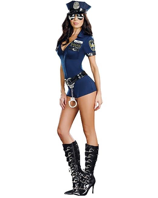 Abaobao Traje de Policía Disfraz Mujer Uniforme de Policía Cosplay para Mujeres