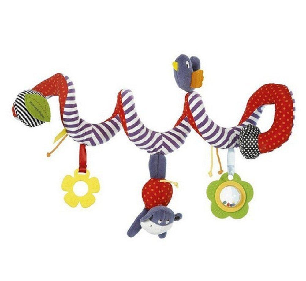 Kenmont Beb/és juega y crece espiral actividades colgar juguetes para cochecitos m/óviles carro asiento regalo Bear and Rabbit