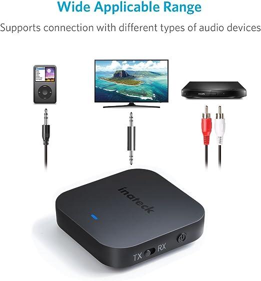 Inateck Transmisor y Receptor Bluetooth 2 en 1 inalámbrico para ...