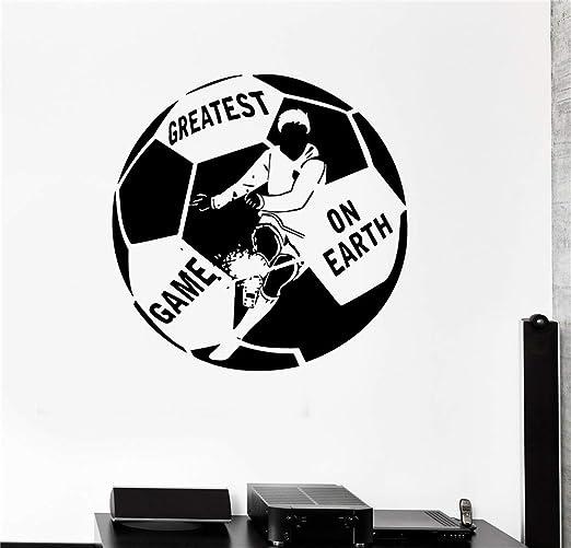 pegatina de pared pegatina de pared frases Balón de fútbol El ...
