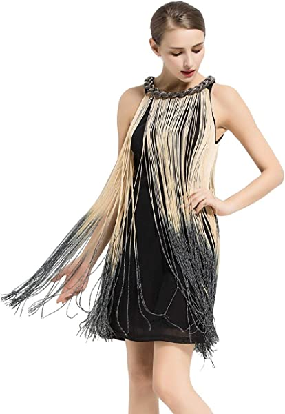 kayamiya Women's Art Deco 1920s Gatsby Fringe Prom Party