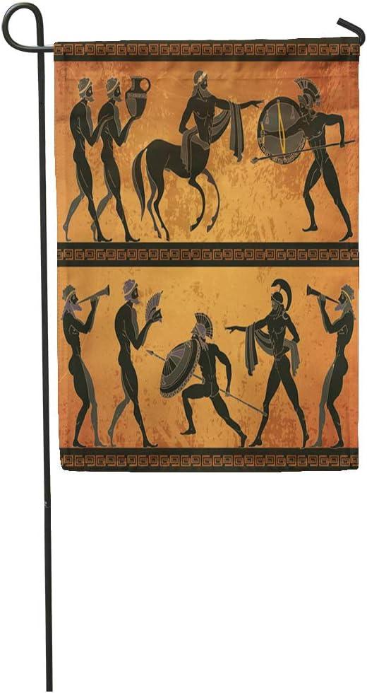 Amazon Com Semtomn Garden Flag Ancient Greece Scene Black Figure Pottery Greek Mythology Centaur People Home Yard House Decor Barnner Outdoor Stand 28x40 Inches Flag Garden Outdoor