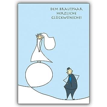 1 Hochzeitskarte Dem Brautpaar Herzliche Gluckwunsche Lustige