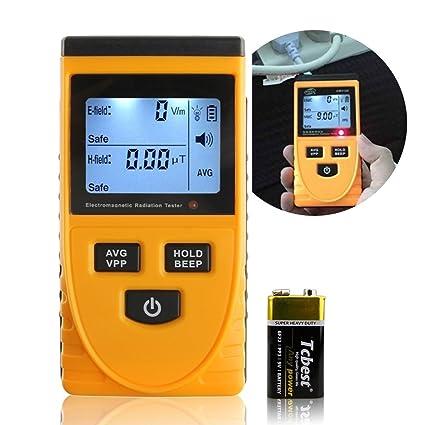 A-szcxtop Digtial radiación medidor con pantalla luz LCD Detector de radiación electromagnética dosímetro probador