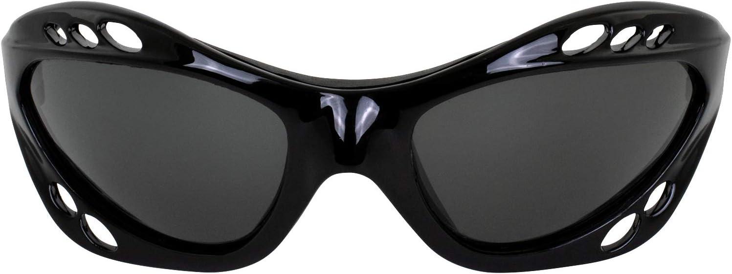 Set of 2 Hurricane Category-4 Polarized Jet Ski Floating Goggles Black Padded Frames Smoke /& Green Mirror ReflecTech Lenses