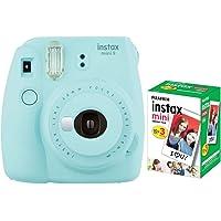 Câmera instantânea Fujifilm Instax Mini 9 Azul Aqua + Pack 30 fotos