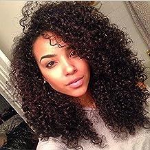Yavida Hair Brazilian Curly Human Hair Extensions Kinky Curly Virgin Hair 3 Bundles Brazilian Kinky Curly Hair Weave Natural Color 16 18 20 Inch