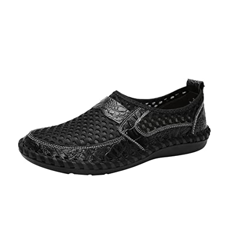 b1aa839c679c Sunshinehomely Men's Breathable Sports Casual Shoes Wave Slacker Mesh Pedals  Shoes Peas Shoes Flats Loafers (