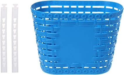 Cuawan Plastic Bicycle Basket Children Bike Tricycle Scooter Supplies Handlebar Carrier Outdoor Cycling Storage Front Shopping Kids Accessories
