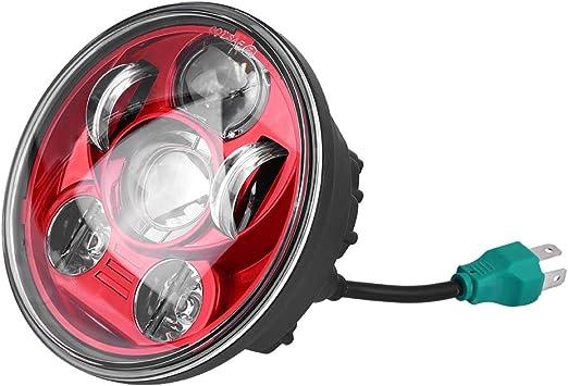Faro da 5,75 Pollici LED Proiettore per Motocicletta Faro per Proiettori Super Grandangolo KKmoon Faro per Moto