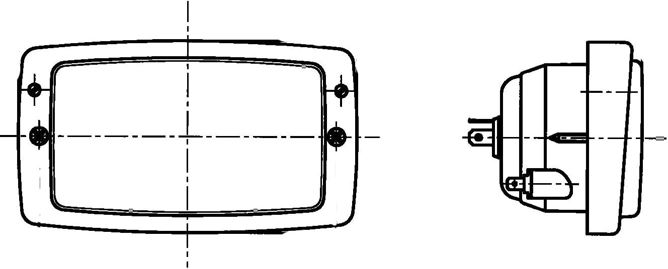 12V HELLA 1AD 996 018-651 Hauptscheinwerfer Modul 6213// E12 20004// E12 7109 f/ür Rechtsverkehr Halogen Einbau links//rechts