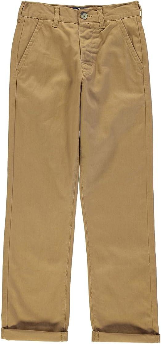 Kangol Kids Children Juniors Chino Khaki Casual Everyday Trousers Jeans Pants