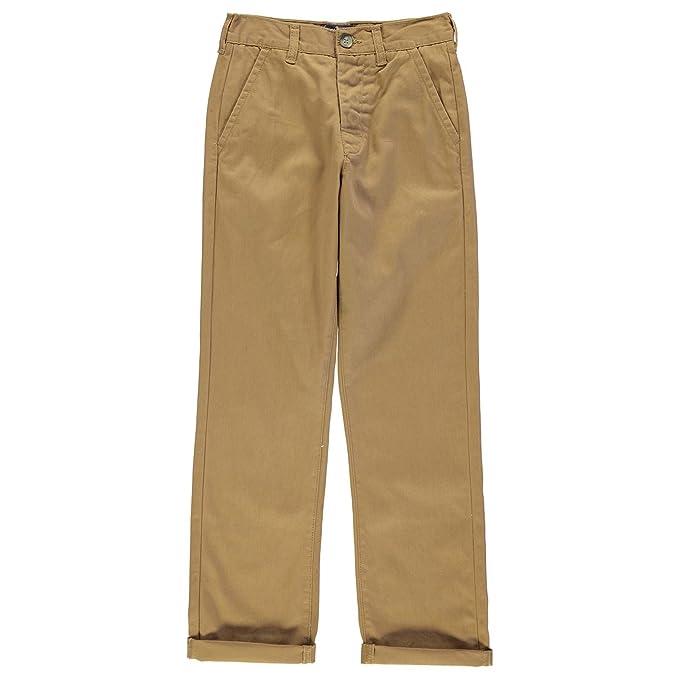 6c065e81471b Kangol Kids Children Juniors Chino Khaki Casual Everyday Trousers Jeans  Pants Dark Sand 9-10