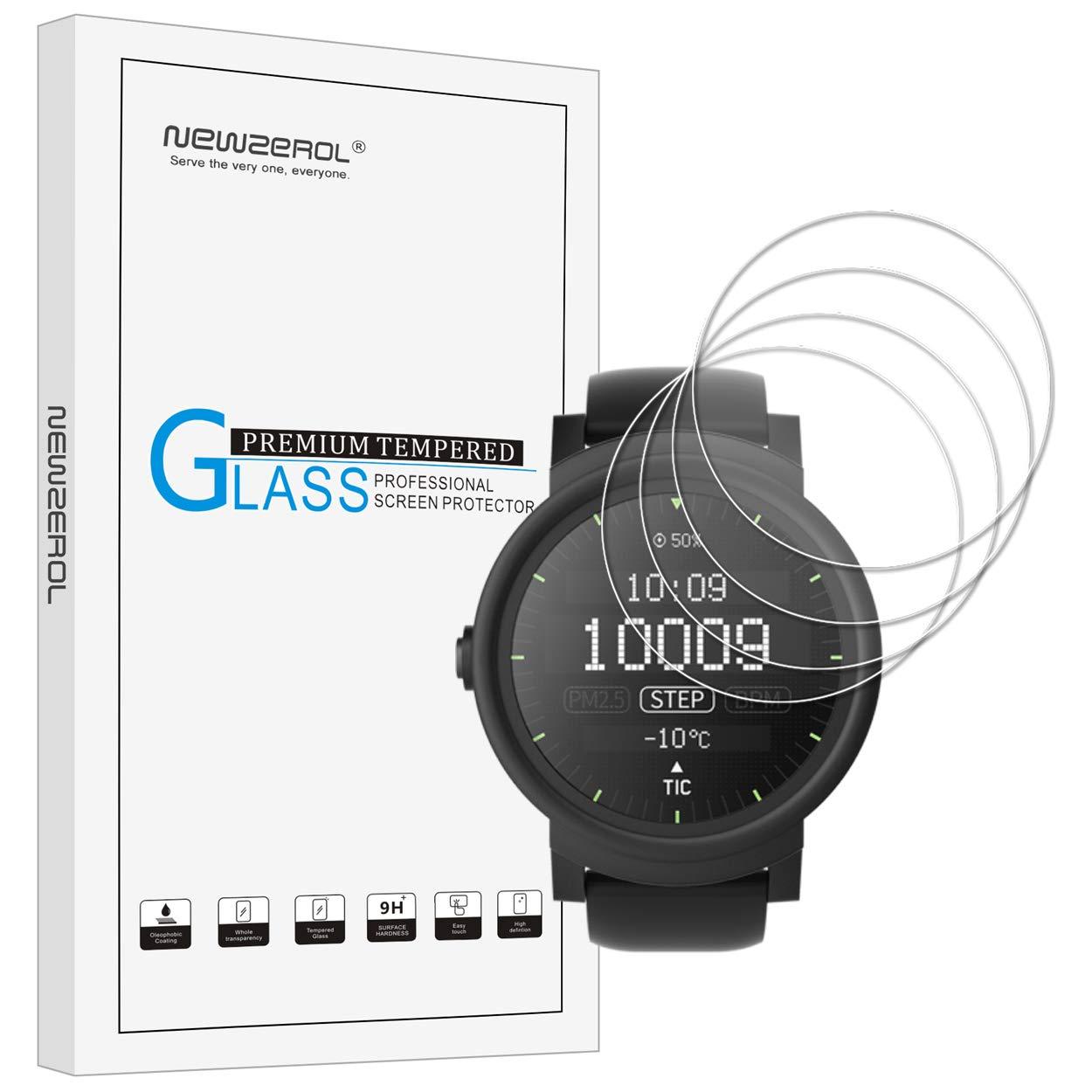 [4 unidades] newzerol para Smartwatch mobvoi ticwatch deporte S/ticwatch e (35 cm) 2.5d Arco Borde 9 dureza alta definición cristal templado Protector ...