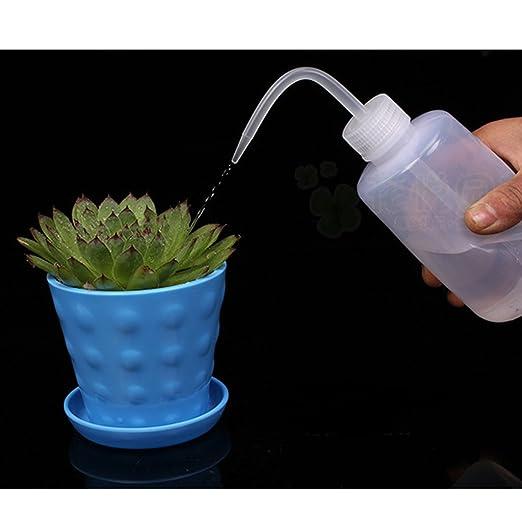 500ml Botella De Riego Flor De La Planta De Plastico Para Jardin Interior Transparente: Amazon.es: Deportes y aire libre