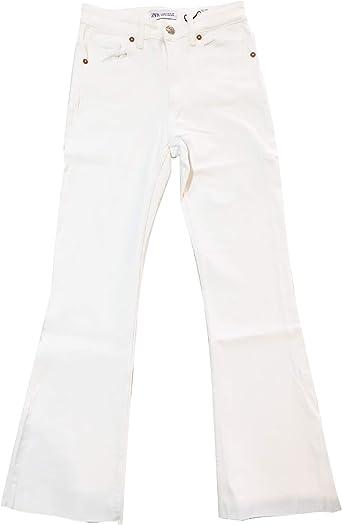 Zara 3643 012 Pantalones Vaqueros Para Mujer Talla Normal Blanco 44 Amazon Es Ropa Y Accesorios