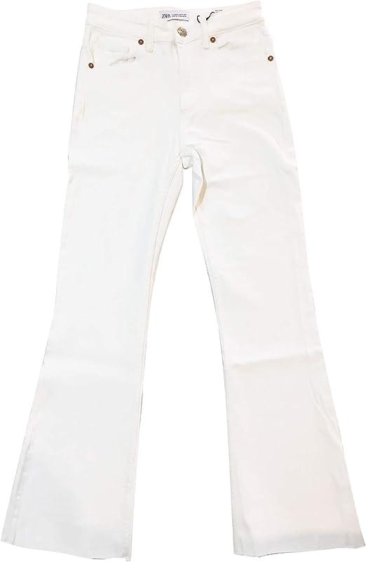 Zara Pantaloni da Donna, Taglia Normale 3643012 Bianco 48