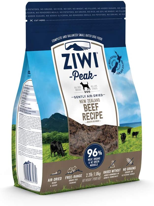 ZiwiPeak(ジウィピーク) エアドライ・ドッグフード NZグラスフェッド・ビーフ 1kg