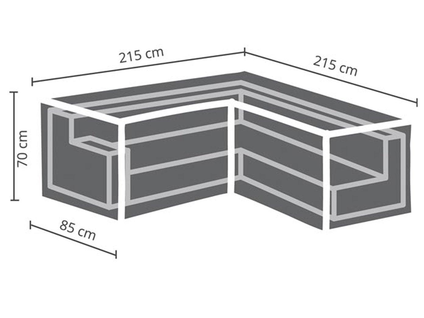 Perel/ garden OCLSL215/Case For L Shaped Furniture Set Black 215/x 215/x 70/cm /215/cm