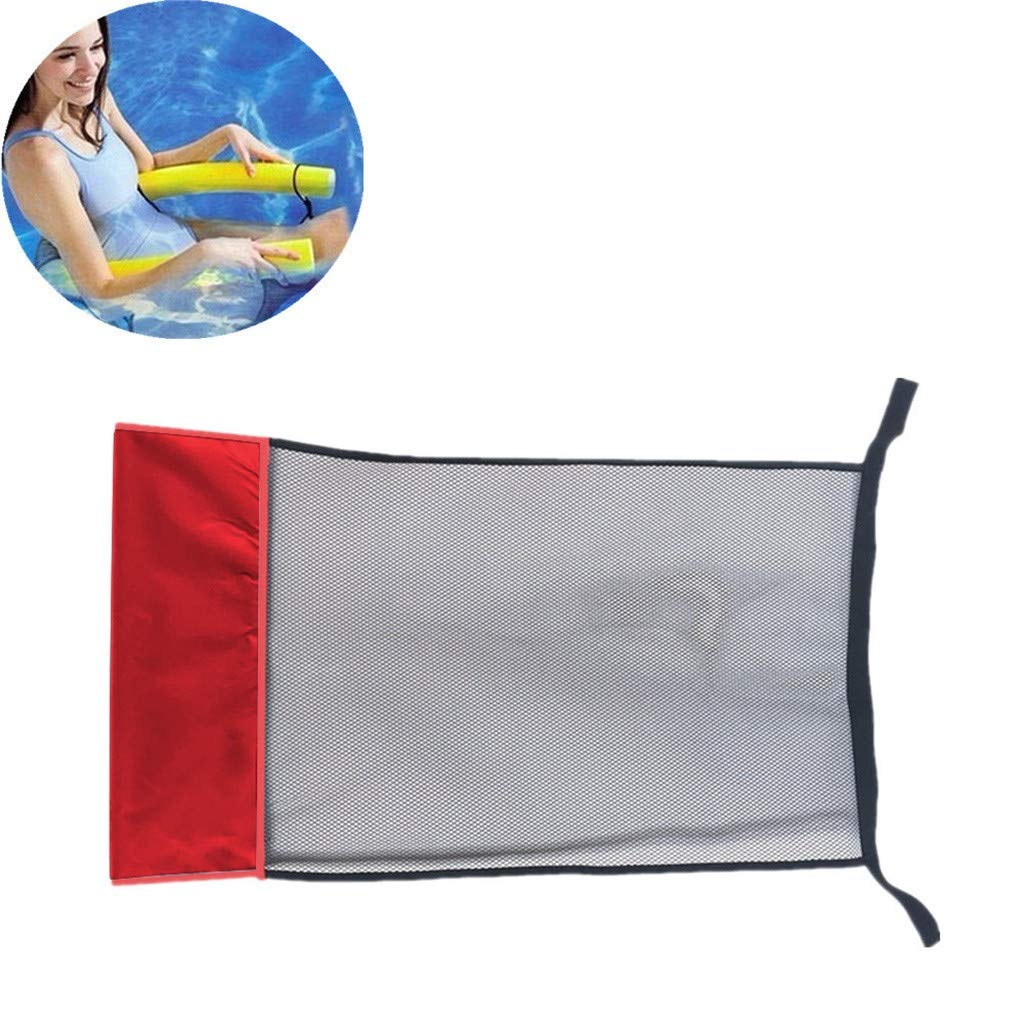 Swimming Bed Seat Pool Beach Floating Chair Kids Adult Outdoor Play Funny Toy DIY Accessories Prettyia Heavy Duty Mesh Pool Noodle Chair Net