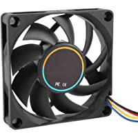 70mmx15mm 12V 4 Pins PWM PC Computer Case CPU Cooler Cooling Fan Black
