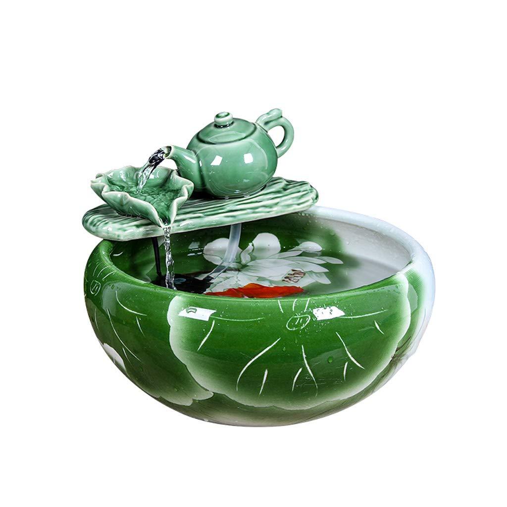 水族館の居間の滝のデスクトップ水陶磁器の水槽、世帯の小さい金魚タンク水槽 (サイズ さいず : S s) B07M9KQJQ7 Medium  Medium