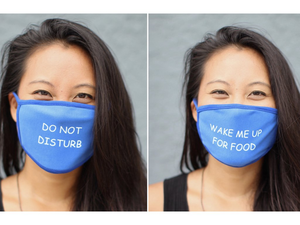 Message Masks (2 per Pack) DO NOT Disturb and Wake ME up for Food