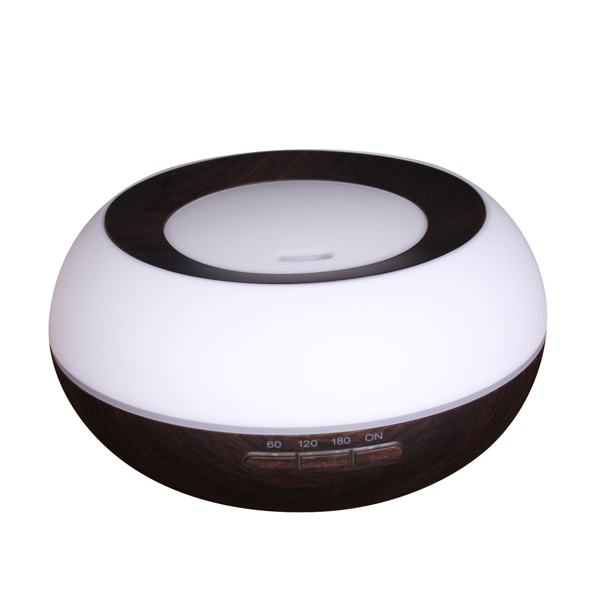 iQbe 200ml Aromatherapy Essential Oil Diffuser LED Lamps Waterless Auto Shut-off for Office Home Bedroom Living Room Study Baby-Black+White