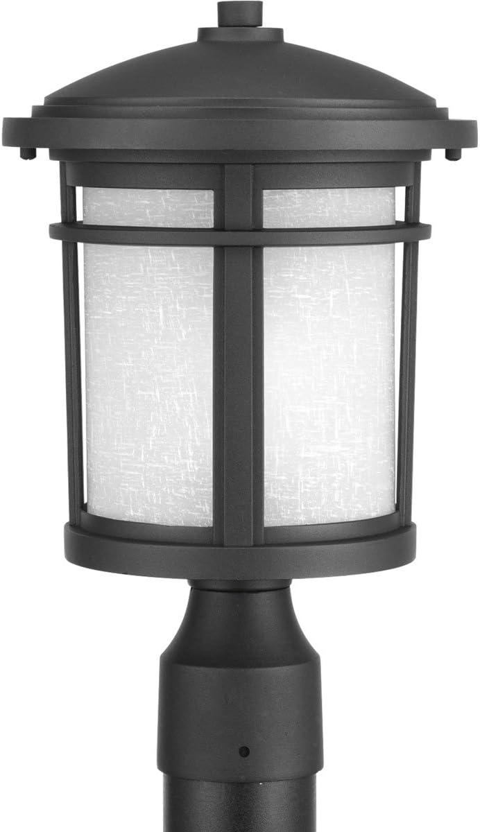 Progress Lighting P6424-3130K9 Traditional Casual 1-9W Led Post Lantern, Black