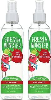product image for Fresh Monster Detangler Spray For Kids, Strawberry | Toxin-Free, Hypoallergenic & Natural (2 pack)