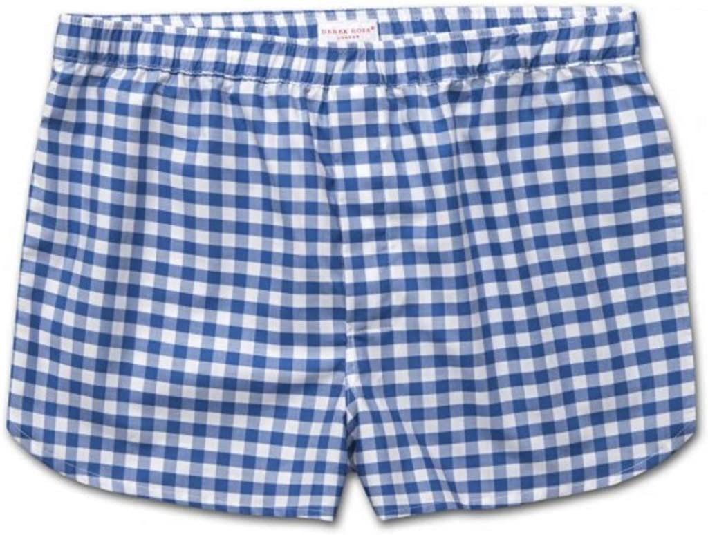 Derek Rose Mens Modern Fit Cotton Boxer Shorts Underwear, Barker 26 Blue