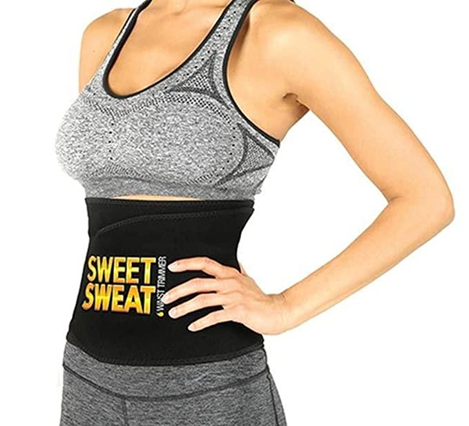 6f661ccfe8 Image Unavailable. Image not available for. Colour  YORA Hot Shapers Sweat  Waist Trimmer Fat Burner Belly Tummy Yoga Wrap Black Exercise Body Slimming