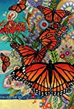 Toland Home Garden Monarch Madness 28 x 40 Inch Decorative Multicolor Summer Butterfly Flower House Flag