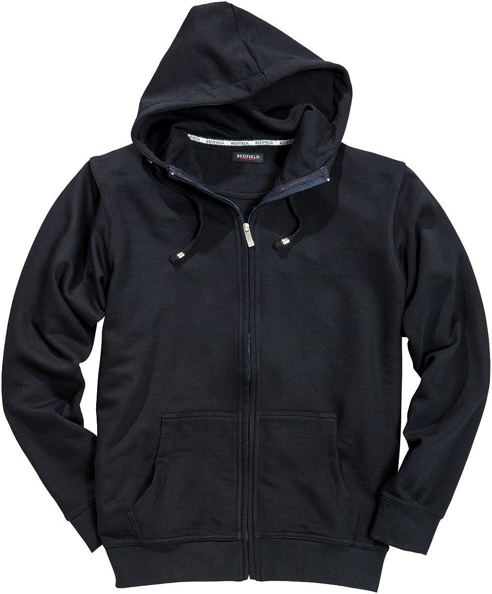 Redfield Sweatshirtjacke mit Kapuze Herren/übergr/ö/ße in Navy