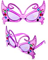 Fun and Funky 2033DDPLPL Sexy Butterfly Fashion Sunglasses Purple Frame Purple Lenses