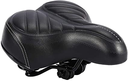 Comfort Wide Big Bum Bike Bicycle Gel Cruiser Extra Pad Saddle N4E7 Soft G6O2